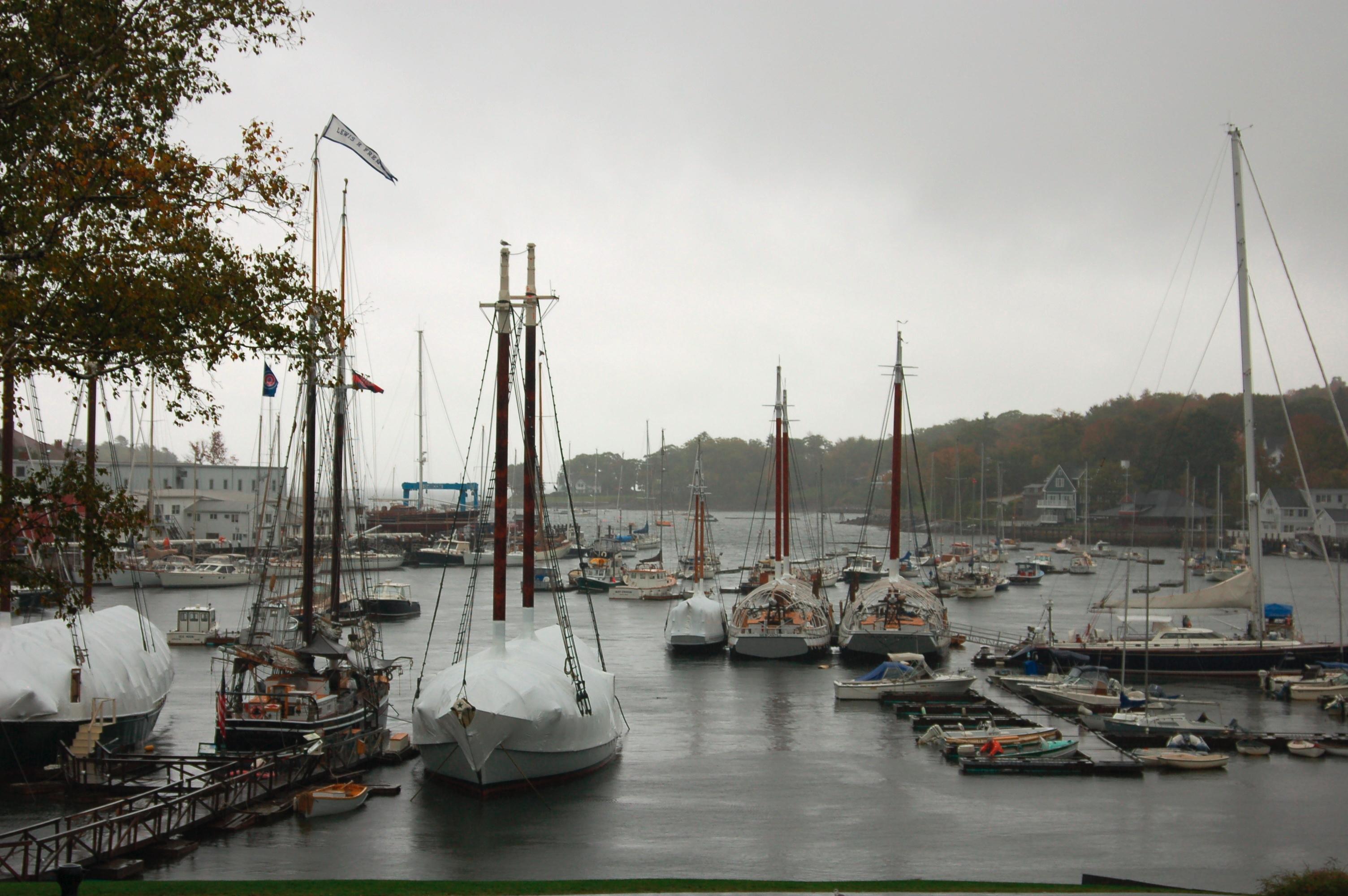 Boats in Winter Camden Maine
