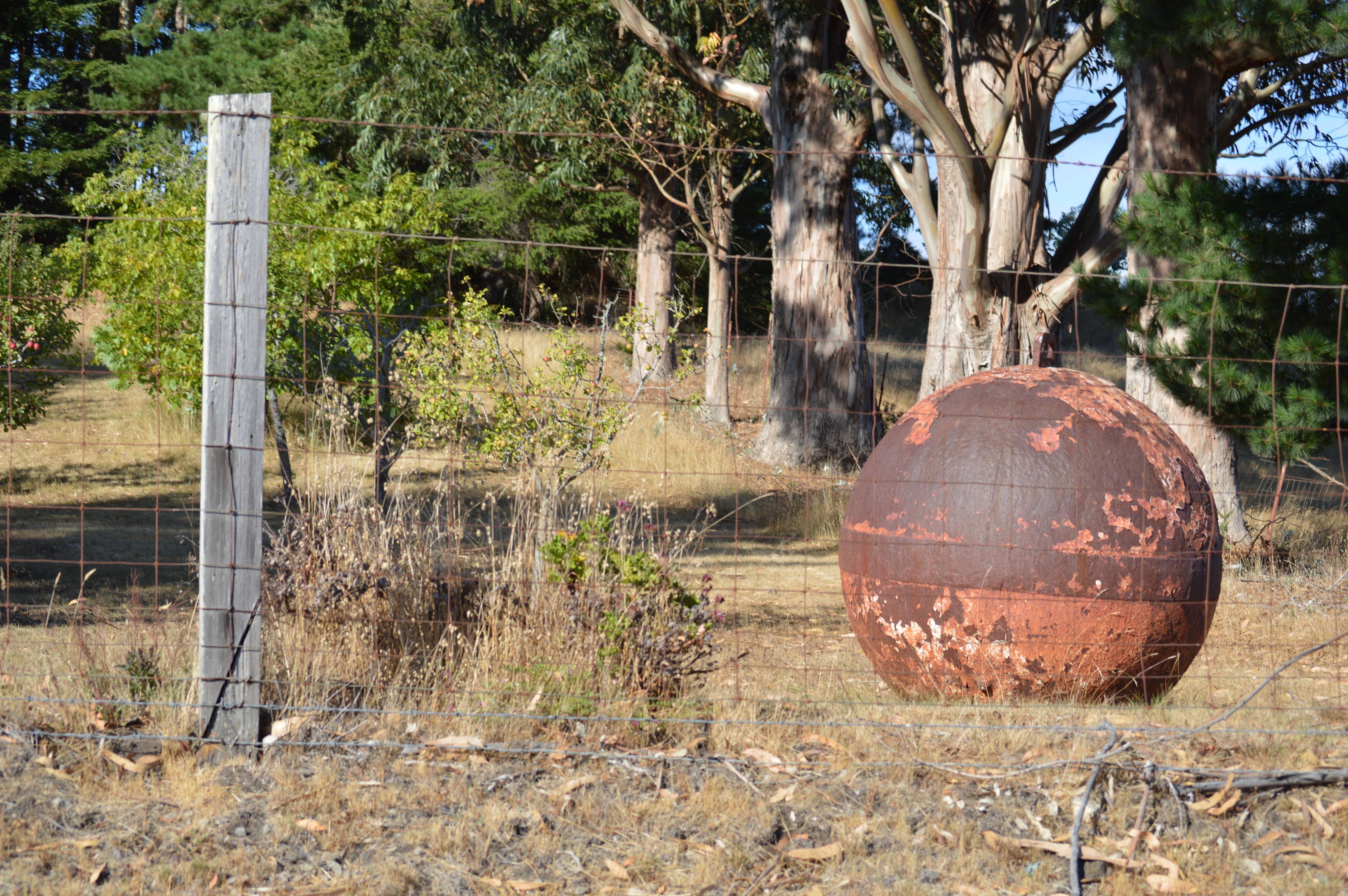 Iron Ball in Sculptor's Yard