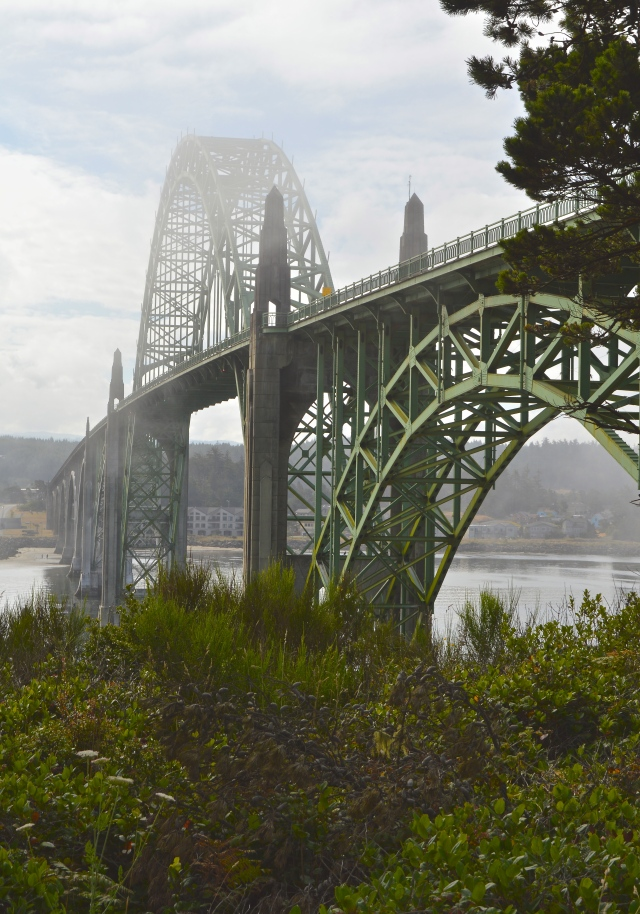 The Yaquina Bay Bridge Newport Oregon