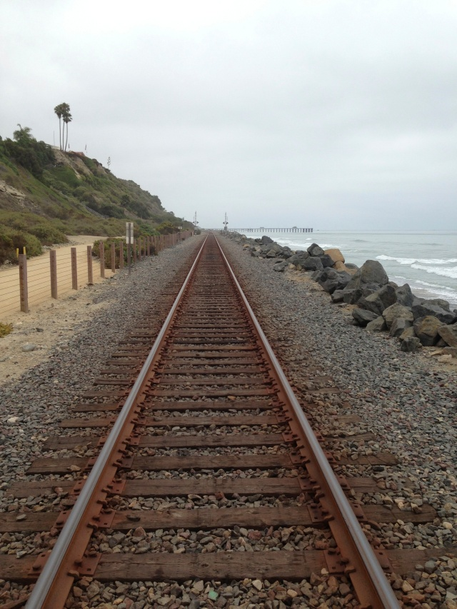 RR tracks near San Clemente California