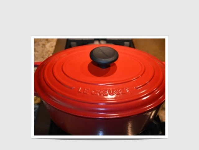 My Red Le Creuset Dutch Oven