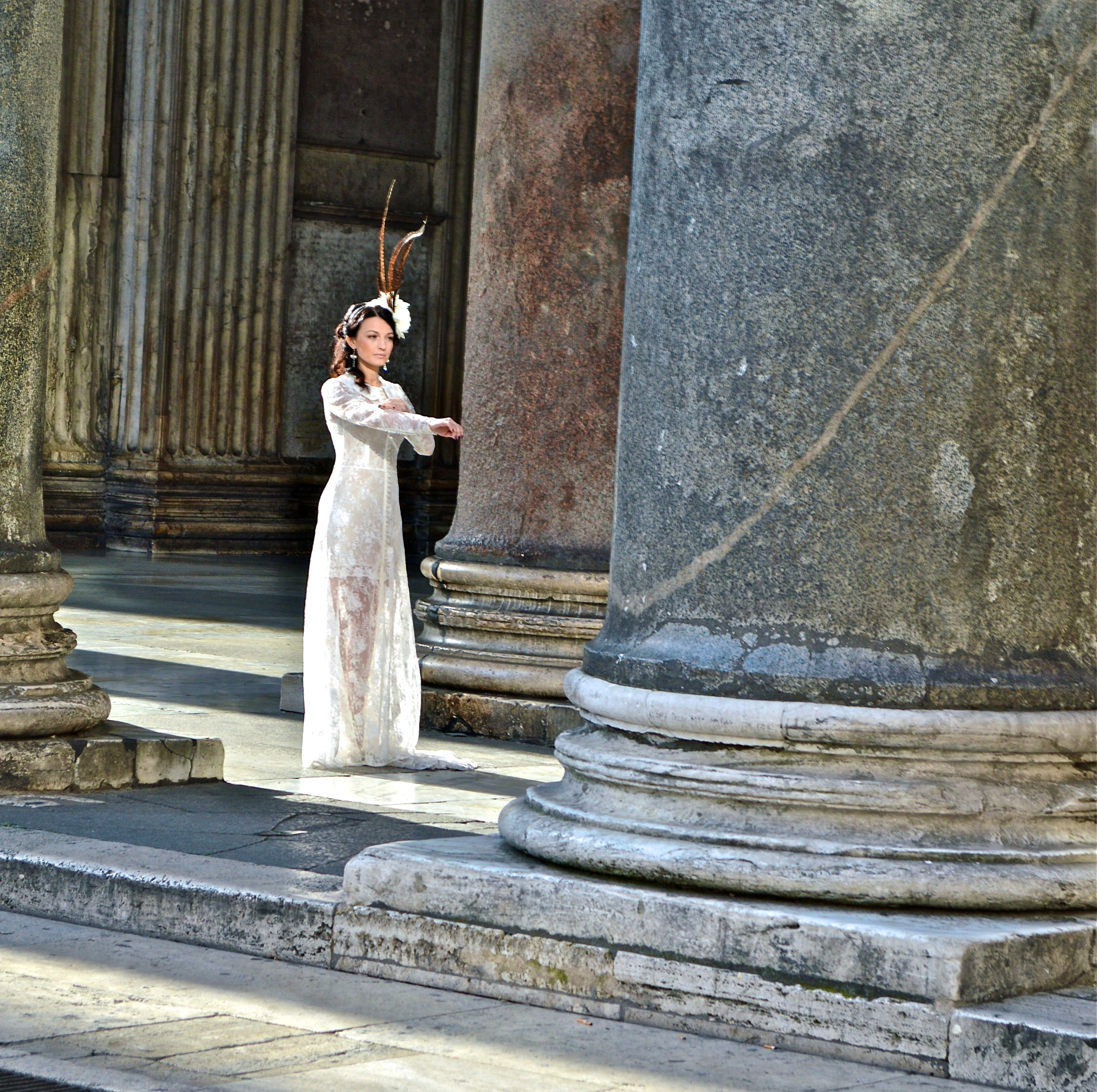 Model at the Pantheon
