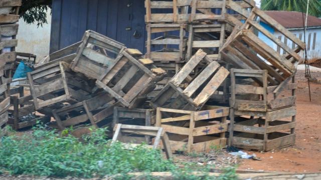 wooden crates in Ghana