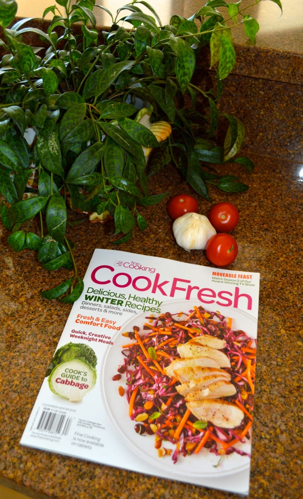 A cooking magazine