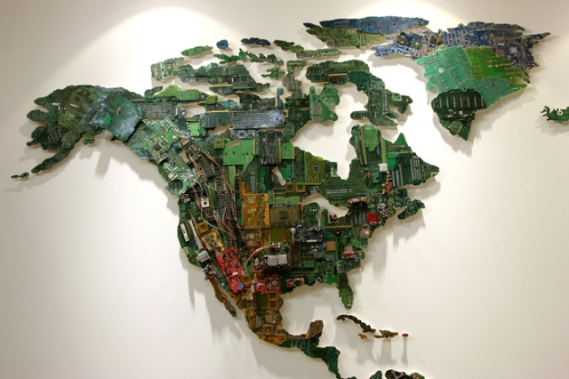 art from recycled computer boards